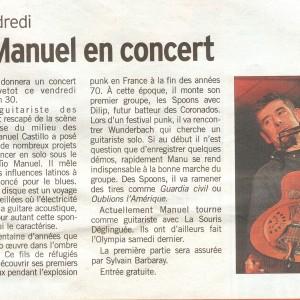 «Ce vendredi, Tio Manuel en concert» – Courrier Cauchois
