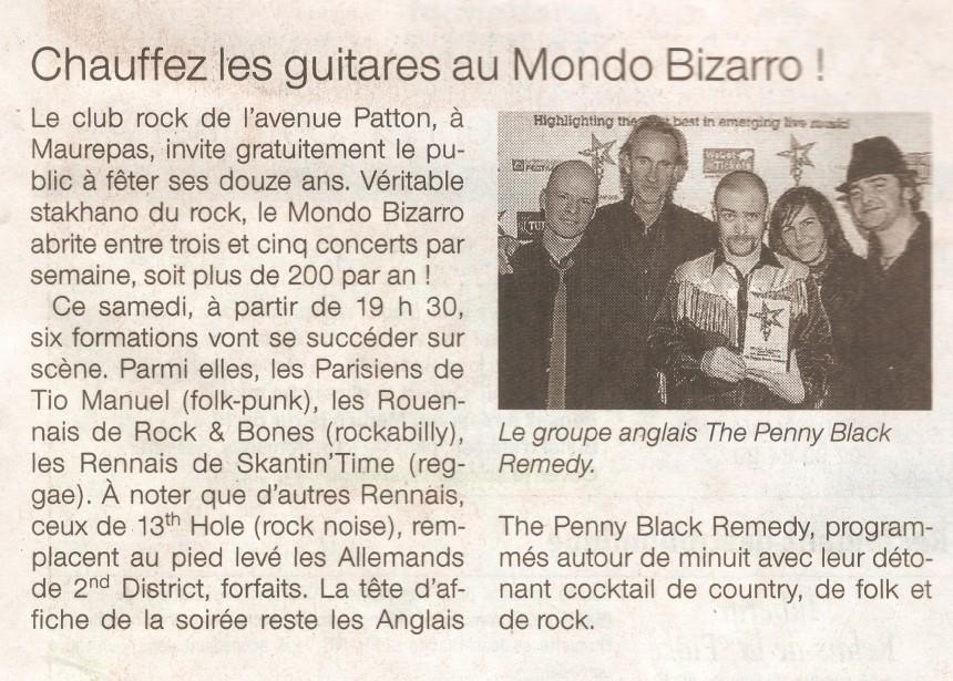 «Chauffez les guitares au Mondo Bizarro» – Ouest France