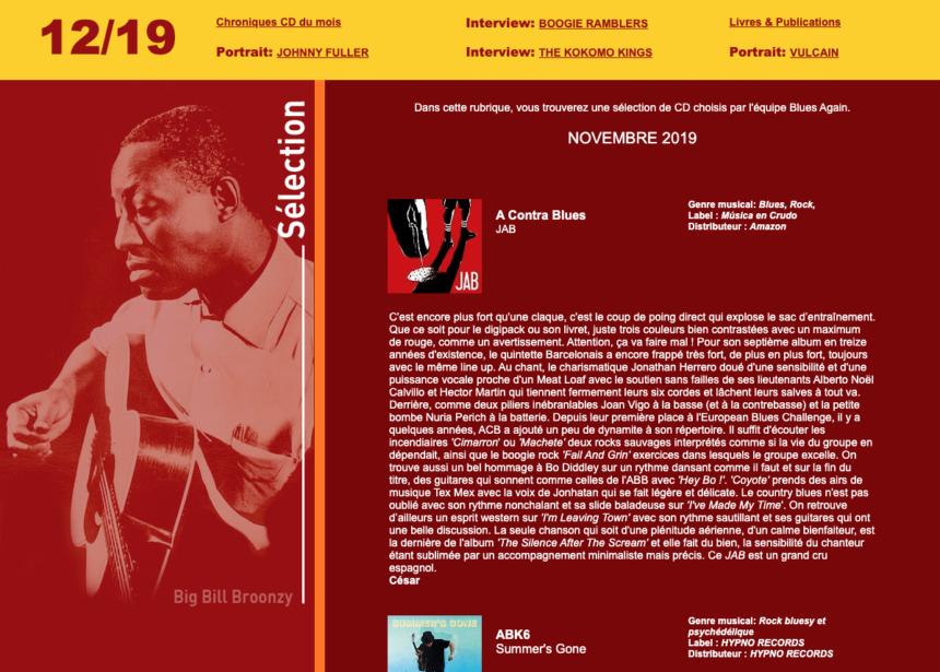Blues Again – novembre 2019